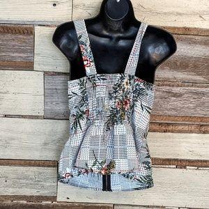 Liberty Love Tops - Super Cute Zipper Front Pinup Top sz M